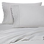 Wamsutta® 400 Thread Count Lace Hem Queen Sheet Set in White Lace