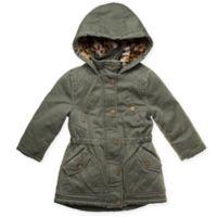 Urban Republic Size 4T Ballistic Hooded Parka Jacket in Olive