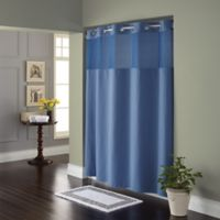 Hookless® Waffle Fabric Shower Curtain in Moonlight Blue