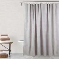 Sara Medallion 96-Inch Shower Curtain in Silver