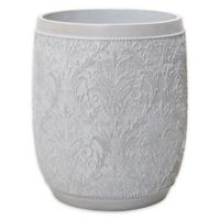 Triia Wastebasket in White Wash