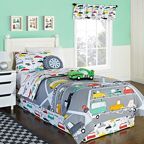 KAS® Kids Road Train Twin Duvet Cover Set