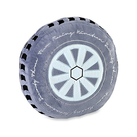 KAS® Kids Road Train Wheel Toss Pillow