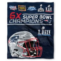 NFL New England Patriots Super Bowl LIII Champions Silk Touch Throw Blanket
