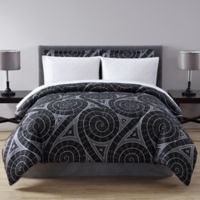 Nautilus Reversible Queen Comforter Set in Grey