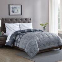 Radisson 5-Piece Reversible Full Comforter Set in Grey