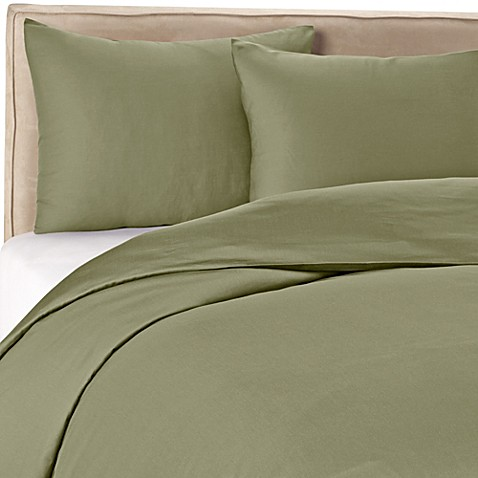 Wamsutta 174 400 Thread Count Duvet Cover Set In Sage Bed