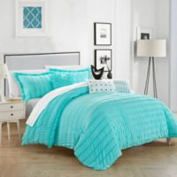 Chic Home Daza 10-Piece King Comforter Set in Blue