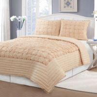 Farmington King Coverlet Set in Peach