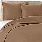 Wamsutta® 400-Thread-Count Solid Full/Queen Duvet Cover Set in Canvas