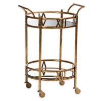Baxton Studio Sherley Bar Cart in Antique Gold