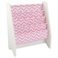 KidKraft® Patterned Sling Bookshelf in Pink/White