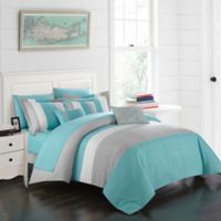 Chic Home Rashi 10-Piece Queen Comforter Set in Turquoise