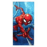 Marvel® Spiderman Blue City Beach Towel