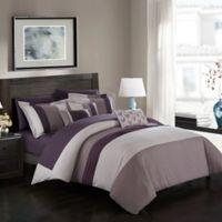 Chic Home Rashi 10-Piece Queen Comforter Set in Plum