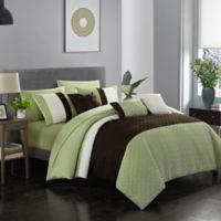 Shai 10-Piece King Comforter Set in Green
