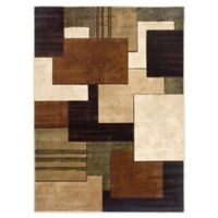 Home Dynamix Tribeca Box 3-Foot 3-Inch x 4-Foot 7-Inch Area Rug in Brown/Green