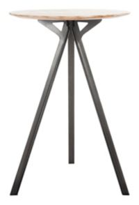 Safavieh Axel Tripod Pub Table in Grey/Black