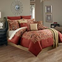 Courtland 14-Piece Queen Comforter Set in Red