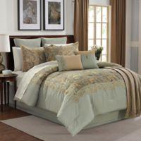 Courtland 14-Piece King Comforter Set in Light Teal