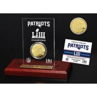 NFL New England Patriots Super Bowl LIII Champions Gold Plated Coin