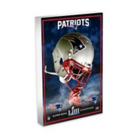 NFL New England Patriots Super Bowl LIII Champions 3D Art Block