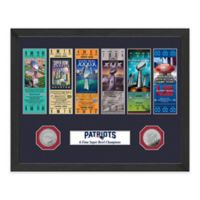 NFL New England Patriots 6-Time Super Bowl Ticket Collection