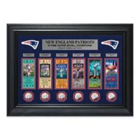 NFL New England Patriots 6-Time Super Bowl Champions Gold Coin & Ticket Collection