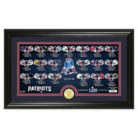 NFL New England Patriots Super Bowl LIII Bronze Coin Panoramic Photo Mint