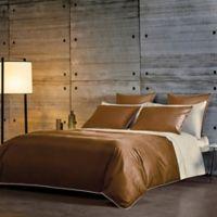 Frette At Home Post Modern Standard Pillowcase in Ivory/Caramel (Set of 2)