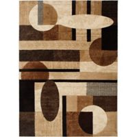 Home Dynamix Tribeca Contemporary 7-Foot 10-Inch x 10-Foot 6-Inch Area Rug in Brown