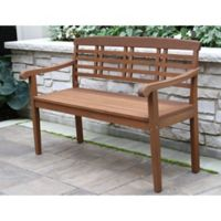 Outdoor Interiors® Parkway Eucalyptus Wood Outdoor Bench