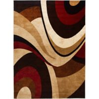 Home Dynamix Tribeca 5-Foot 2-Inch x 7-Foot 2-Inch Area Rug in Brown/Red