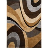 Home Dynamix Tribeca 5-Foot 2-Inch x 7-Foot 2-Inch Area Rug in Brown/Grey