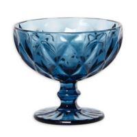 Table Art Vista Footed Dessert Bowls in Blue (Set of 4)