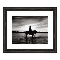 Amanti Art Silhouettes at Sunset 26-Inch x 22-Inch Framed Print