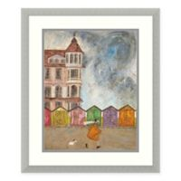 Amanti Art I Can Sing a Beach Hut 19 -Inch X 22 -Inch Framed Wall Art