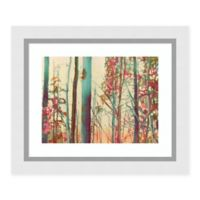 Amanti Art Pink Arborescences 24 -Inch X 20 -Inch Framed Wall Art