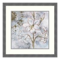 Amanti Art Floral Pearls II 26 -Inch Square Framed Wall Art
