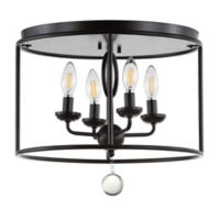 """JONATHAN Y Alma 16"""" Metal LED Flush Mount in Oil Rubbed Bronze"""