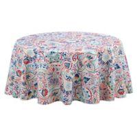 Kastoria 60-Inch Round Indoor/Outdoor Tablecloth in Red