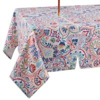 Kastoria 60-Inch x 84-Inch Oblong Indoor/Outdoor Tablecloth with Umbrella Hole in Red