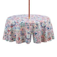 Kastoria 70-Inch Round Tablecloth with Umbrella Hole in Red