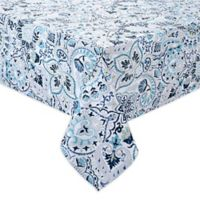 Kastoria 52-Inch x 70-Inch Oblong Indoor/Outdoor Tablecloth in Aqua