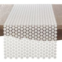 Saro Lifestyle Thea Dora 72-Inch Table Runner in Ivory