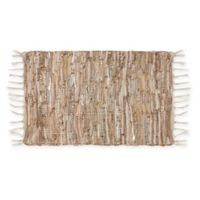 Saro Lifestyle Cuir Chindi Placemats in Natural (Set of 4)