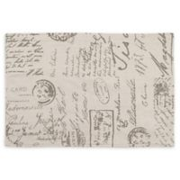 Saro Lifestyle Script Printed Placemats in Natural (Set of 4)