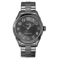 Timex© Briarwood Men's 40MM TW2T46000 Black Stainless Steel Watch with Expansion Band