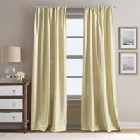 Peri Home Eastman 95-Inch Rod Pocket Window Curtain Panel in Gold