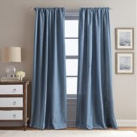 Peri Home Eastman 95-Inch Rod Pocket Window Curtain Panel in Indigo